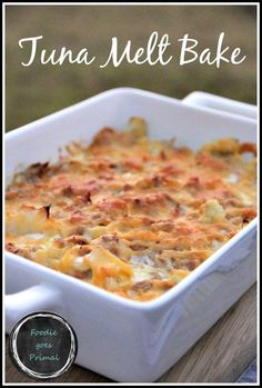 Low Carb Tuna Melt Bake {LCHF, Banting, Comfort Food} Delicious, healthy, and suitable for keto too!