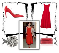 """""""Kate Middleton Red Dress"""" by kiedisme on Polyvore featuring мода, Judith Leiber, Marc Jacobs и Preen"""