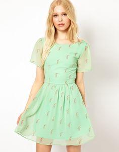 Sugarhill Boutique | Sugarhill Boutique Lace Up Back Dress in Milkshake Print at ASOS