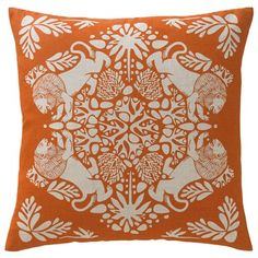 DwellStudio Home Lion Tangerine Pillow - for a Narnia room