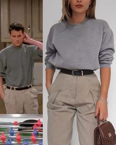 Chandler Bing-inspired outfits influx, The outfit would yo - Combine Look Vintage Outfits, Retro Outfits, Chic Outfits, Fashion Outfits, Grunge Outfits, 90s Style Outfits, Mode Grunge, Grunge Look, 90s Grunge