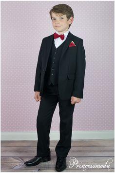 p3 festliche krawatte in rot princessmoda alles f r taufe kommunion und festliche anl sse. Black Bedroom Furniture Sets. Home Design Ideas
