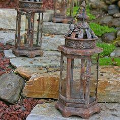 Metal Candle Lantern, Vintage Wedding, 5.5 x 4.75 x 13 inches, Brown DCI - Designs Combined, Inc. http://www.amazon.com/dp/B018UGIGII/ref=cm_sw_r_pi_dp_8sXHwb0N1CQ04