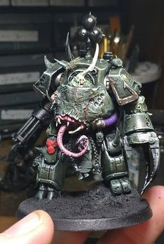When the mighty god Nurgle gets a hold of a dreadnought, you know all sorts of amazing mutations are about to happen! Come see this amazing transformation!