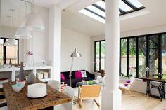 Une véranda avec un côté atelier de 33m2 2/2 - Baies vitrées et verrières : 15 photos pour laisser entrer la lumière - CôtéMaison.fr