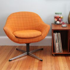 retro swivel chair gave one of these away- Bog mistake. It was  great, until it flipped over backwards a few times.