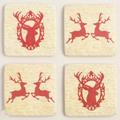 Stag Holiday Plates