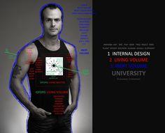 """INTERNAL DESIGN + LIVING VOLUME + INERT VOLUME UNIVERSITY"" - SIGNBOARD"
