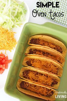 Simple Oven Tacos - #oventacos - Simple Oven Tacos... Chicken Taco Recipes, Mexican Food Recipes, Whole Food Recipes, Cooking Recipes, Frugal Recipes, Frugal Meals, Budget Meals, Rotisserie Chicken Oven, Oven Baked Chicken