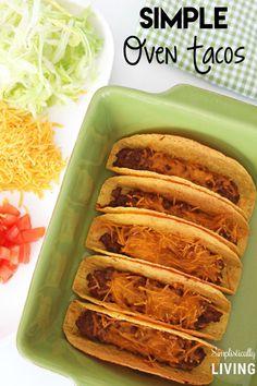 Simple Oven Tacos - #oventacos - Simple Oven Tacos...