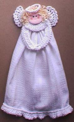 Kitchen Angel Towel Ring ~ free pattern