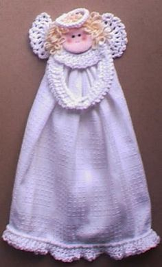 Kitchen Angel Towel Ring ~ free pattern