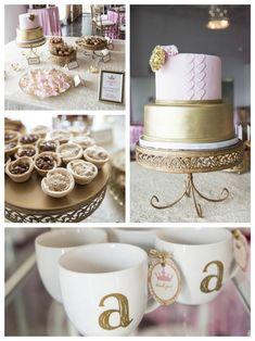 Royal Pink + Gold Baby Shower via Kara's Party Ideas KarasPartyIdeas.com Cake, decor, supplies, printables, tutiorials, desserts, and more! #pinkandgold #girlbabyshower #royalpartyideas #princesspartyideas #pinkandgoldbabyshower #princessbabyshower #Princessparty