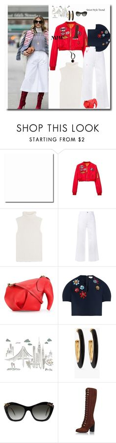 """""""NYFW Street Style: Day 2- An Interpretation"""" by peeweevaaz ❤ liked on Polyvore featuring WithChic, Theory, STELLA McCARTNEY, Loewe, Delpozo, Pottery Barn, Chico's, Miu Miu, Topshop and StreetStyle"""
