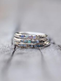 Opal Fossil Ring // Hidden Gems    Flashes of colour, dripping with that zest for life that makes raindrops dance