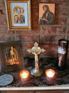 My altar at a Catholic retreat house by Rinabobina, via Flickr
