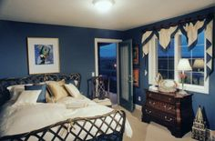 marine blue bedroom   ... marine blue, it can makes the room become calm. The decorations and