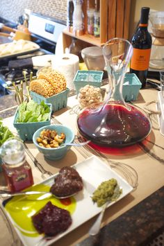 A wine and cheese party