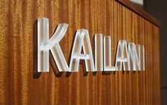 Frosted Acrylic Dimensional Four Seasons Lana'i - Kailani restaurant sign Office Signage, Retail Signage, Wayfinding Signage, Signage Design, Environmental Graphics, Environmental Design, Led Neon, Sign System, Acrylic Letters