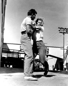 """""""Marilyn Monroe and Keith Andes in Clash By Night. """""""