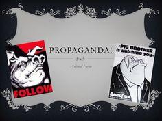 Propaganda in Animal Farm by lspallone via slideshare Animal Farm George Orwell, 7th Grade Reading, Farm Unit, Farm Animals, Literature, Teaching, School Stuff, School Ideas, Videos