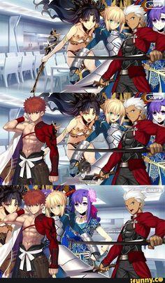 Fate Archer, Type Moon Anime, List Of Memes, Shirou Emiya, Anime Stories, Fate Stay Night Anime, Romance Comics, Fate Servants, Fate Anime Series