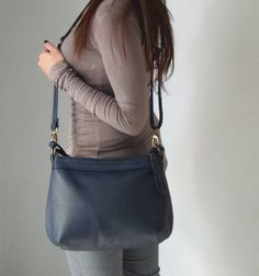 Soft leather bag  Leather hobo bag  Woman's leather by Laroll, €120.00
