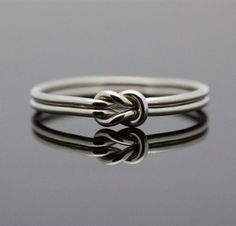 Hug Infinity ring. Sterling Silver knot ring Nautical ring Promise ring Purity ring sailor knot via Etsy