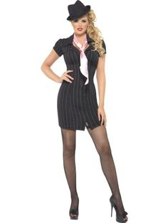 Adult Sexy 1920s Gangster Mafia Moll Ladies Fancy Dress Costume Hen Party Outfit | eBay