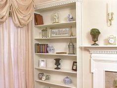 Recessed book shelf