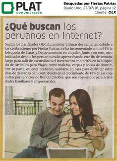 OLX: Búsquedas por Fiestas Patrias en Diario Uno de Perú (27/07/16)
