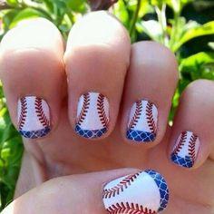 Beautiful Baseball Nail Ideas   Manicure   Pinterest   Beautiful ...