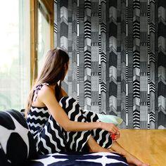 Hookedonwalls Ruutukaava Marimekko behang 41006 | FLINDERS verzendt gratis