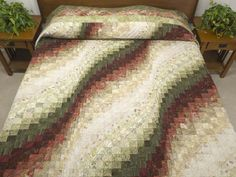 Bargello Wave Quilt -- outstanding carefully made Amish Quilts from Lancaster (hs6199)