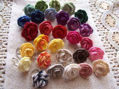 Horgolt virágos gyűrűk