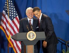 """He was my friend. I owe him a lot."" —President Obama on Senator Ted Kennedy #EMKInstitute"