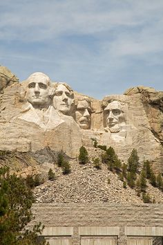 On a road trip to Yellowstone National Park, we stopped at Mount Rushmore to get a picture of the awe inspiring monument.  These founding fathers look out over the beautiful natural environment of the United States.  This is a truly patriotic experience.