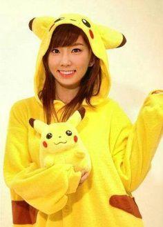 #snsd #Teayeon #pikachu Pika Pi