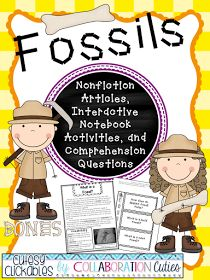 Fossils informational articles, interactive notebook activities, comprehension questions, assessment and answer keys! Ready to go unit!