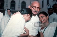 New Delhi, India, Indian political and spiritual leader Mahatma Gandhi is pictured with his grandchildren at Binka House Get premium, high resolution news photos at Getty Images Life Of Mahatma Gandhi, Mahatma Gandhi Photos, New Delhi, Delhi India, Political Leaders, Politics, India Independence, History Of India, Vintage India