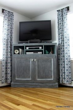 I want to make this!  DIY Furniture Plan from Ana-White.com  Build a corner media stand! Free plans from Ana-White.com