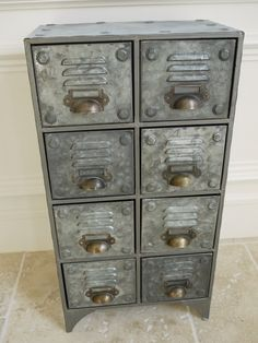 vintage industrial cabinet 1 4 drawers retro style storage chest, Moderne