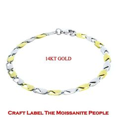 TwoTone 14K Gold Filled Mariner Design Gucci Bracelets 4.45 mm, 8Inches. Starting at $1