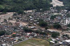 Dodental modderstromen Colombia loopt sterk op