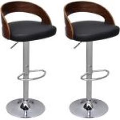 vidaXL Bar Stool 2 pcs and Curved Wood Frame Adjustable Height – 241689 by Industrial Bar Stools, Wooden Bar Stools, Cafe Chairs, Dining Chairs, Dining Furniture, Outdoor Kitchen Bars, Outdoor Cafe, Curved Wood, O Gas