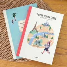 Jam studio Doran doran illustration undated diary scheduler - fallindesign