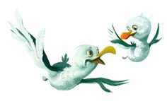 seagull by MAJOS Illustrations , via Behance