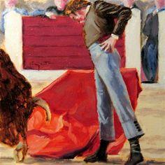 "Daily Paintworks - ""Derechazo"" - Original Fine Art for Sale - © Eduardo Carpintero"