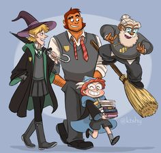 My hand slipped while storyboarding… The Adventure Zone boys at Hogwarts WHY CAN'T I STOP DRAWING THEM