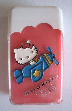 1976 Hello Kitty cased eraser. I had this as a child and it smelled like pink bubble gum!